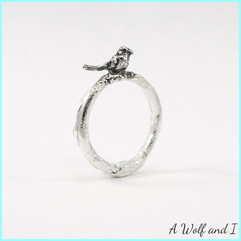 Completely new Sterling Silver 'Pete' Little Bird Twig Ring – A Wolf and I SX59