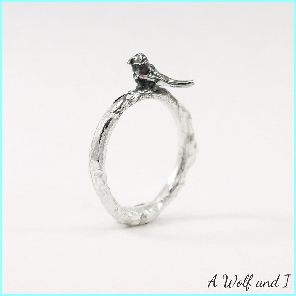 Well known Sterling Silver 'Pete' Little Bird Twig Ring – A Wolf and I QX75
