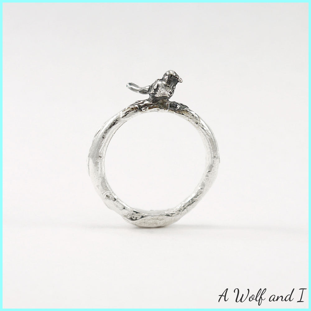 Famous Sterling Silver 'Pete' Little Bird Twig Ring – A Wolf and I RM52