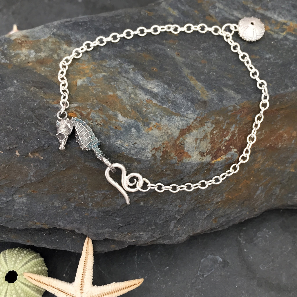 Seahorse and Sea urchin bracelet