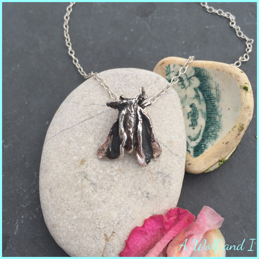 Sterling Silver 'Suki' Moth Necklace