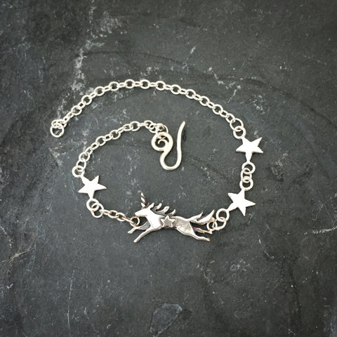 Unicorn and Stars Bracelet