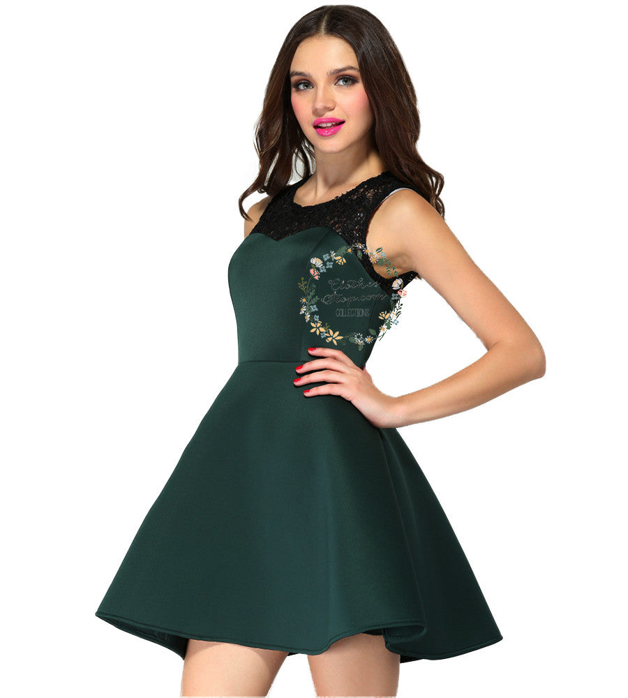 Look - Lace Green dress pictures video