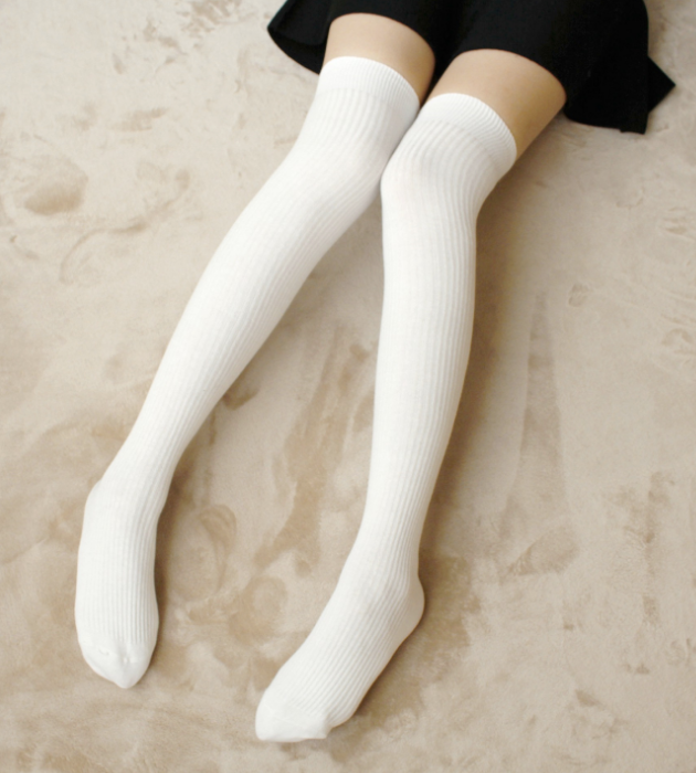 100% authentic best superior quality Over The Knee Socks White