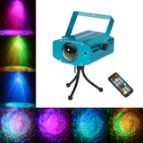 Island 10W Colour Changing Mini LED Water Ripple Light Effect Stage Light with Remote and Stand