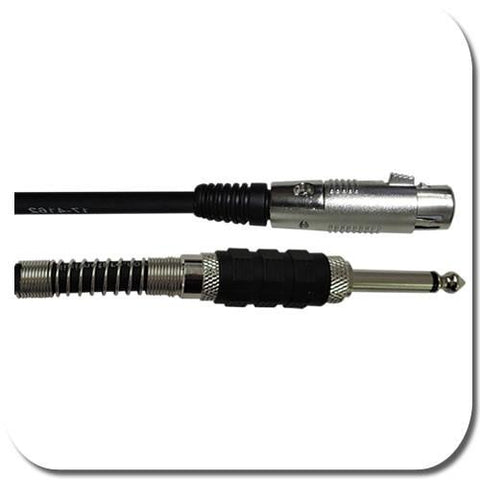 Acoustic Audio 1/4 Male to XLR Female Prof. Cable in 3 lengths 10ft, 25ft and 50ft - expert island