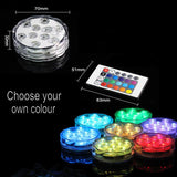 LED Multi-Colour Submersible Waterproof Base/ Party/ Decor Light with Remote - expert island