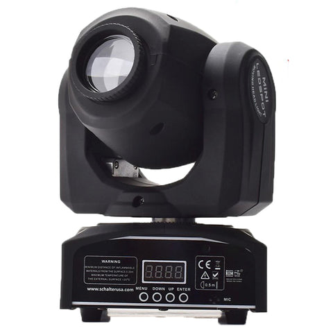 30 Watt Cree Led Gobo Moving Head Dmx512 Dj Stage Light - 1 Spot +7 Designs Lighting