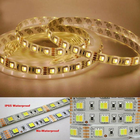 LED Strip/Tape Light Dual Colour Adjustable 5730 SMD IP65 Rated - White and Warm White Color on the Same Strip - expert island