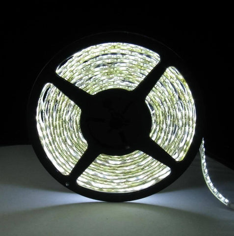 LED Strip/Tape Light Double Density 3528 SMD IP33 or IP65 Rated, 600 LEDs, 5 Meters - Assorted Colours - expert island