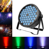 54 Watt Flat Par Can Light 54 LED Lights RGBW Colour Mixing 7 Channel DMX512 Disco DJ Stage