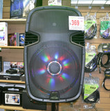 Acoustic Audio 4315Tn 15 1000 Watt Portable Rechargeable Pa System W/ 2 Built-In Dual Vhf Wireless