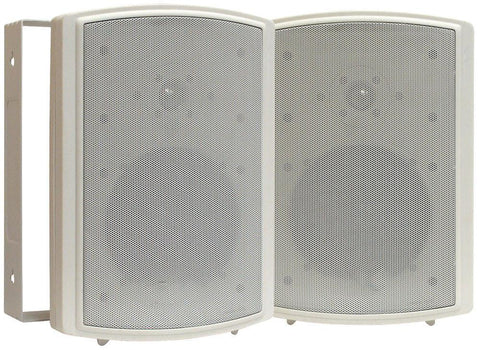 Acoustic Audio 89-8405 - 5'' Indoor/Outdoor Waterproof Wall Mount Speakers (Pair) - White or Black - expert island