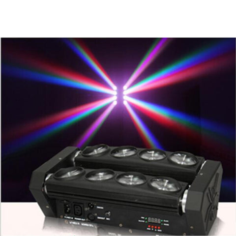 Ultra Spider 8 X 12W Moving Head Rgbw 4-In-1 Dj Stage Party Light Dmx512 Lighting