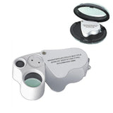 LED Double-Multiple 30X & 60X Jeweller Eye Loupe Magnifier Magnifying Glass - expert island