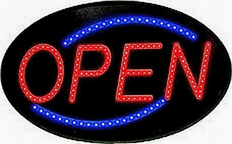 OPEN Sign 10MM LED with Power Supply, Static or Chasing Light Featrure - expert island