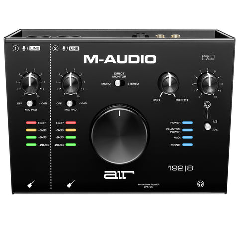 M-AUDIO AIR 192|8  2-In/4-Out 24/192 Audio Midi Interface