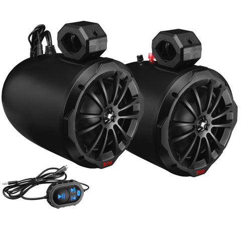 "BOSS AUDIO B82ABT 850 Watt Bluetooth 8"" Amplified Marine Wakeboard Speakers (Pair)"