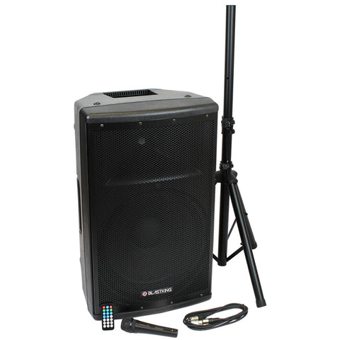 BLASTKING BDT15CMB1 15-inch 1000 Watt 2-Way Active Loudspeaker w/ Mic and Stand