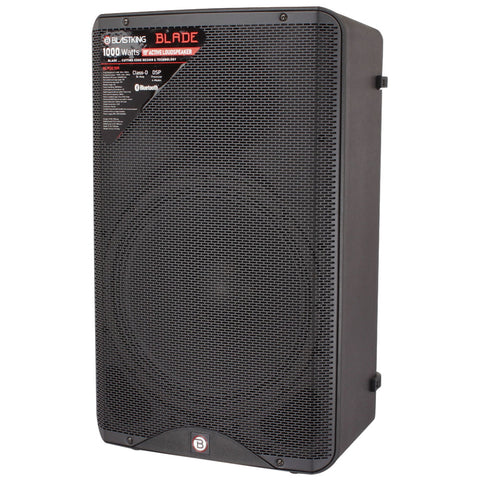"BLASTKING BLADE15A 1000 Watts 15"" Bluetooth Active Loudspeaker with DSP Processor"