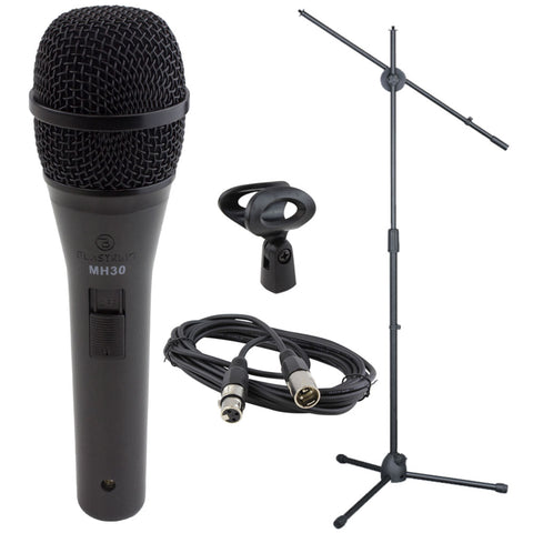 BLASTKING MH30KIT Dynamic Microphone, XLR Cable, and Stand Kit