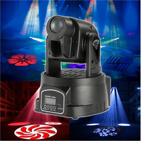 50 Watt Gobo Pattern Led Rotating Moving Head Dj Party Stage Effect Light Dmx512 Lighting