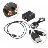 Digital To Analog Audio Converter Coaxial Or Toslink Rca - Cable Included Accessory