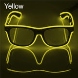 El Wire Neon Effect Light Up Glow Party Glasses With On/flashing Yellow Novelty