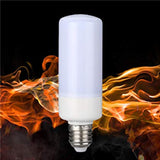 Led Flame Fire Effect Light Bulb - 2 Mode Lighting And Gravity Sensor
