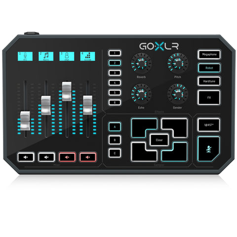 TC HELICON GO XLR Audio Mixer, Sampler, & Voice FX for Broadcasting Streaming
