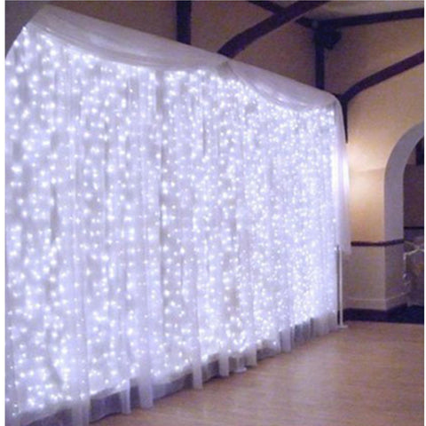 Connectable 300 Led Curtain Lights Indoor/outdoor Waterproof Extendable - Coo White 3M X Lighting