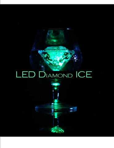 Liquid Activated Multi-Colour LED Light-Up Ice Cube - Diamond Shaped - expert island