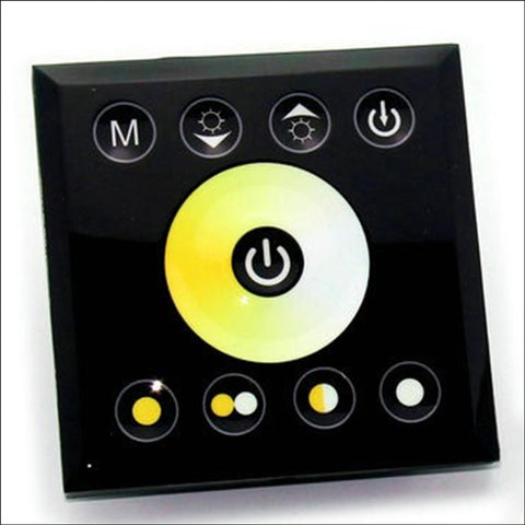 In-Wall Touch Panel Led Light Controller Dimmer 12V-24V - For Dual White Strips / Bulbs Accessories