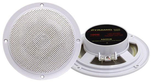 Pyramid (Mdc6) 5.25 Marine 100 Watts Dual Cone Waterproof Stereo Speakers