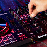 Numark Mixtrack Platinum FX 4-Deck Advanced DJ Controller with Jog Wheel Displays and Effects Paddles