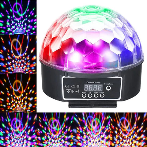 Crystal Magic Ball LED DJ and Party Light - Auto and Sound Activated Mode