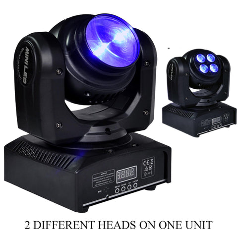 50 Watt 5 Led Rgbw Double Sided Dual Moving Head Rotating Stage Dj Light Dmx512 Lighting