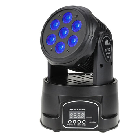 Island 70W 7 LED RGBW Rotating Moving Head DJ Party Stage Effect Light 9/14 Channel DMX512