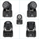 70W 7 Led Rgbw Rotating Moving Head Dj Party Stage Effect Light 9/14 Channel Dmx512 Lighting