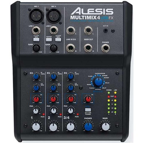 Alesis Multimix 4 Usb Fx 4-Channel Mixer W/effects & Audio Interface