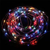 Fairy String Lights 20 LED Copper Wire Lights - Assorted Colours 2 Meter (6ft) w/Built-in Coin Battery Pack - expert island