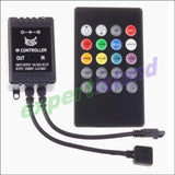 Led Light Ir Sound Sensor Music Controller With 20 Key Remote - For 3528 Or 5050 Strips Accessories