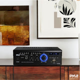 PYLE PCAU46A Audio Speaker Power Amplifier - Digital Stereo Amp with Headphone Jack