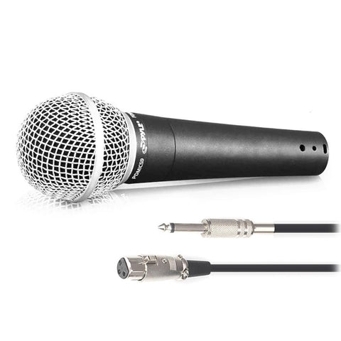 Pyle Pdmic58 Professional Moving Coil Dynamic Handheld Microphone With Xlr Cable