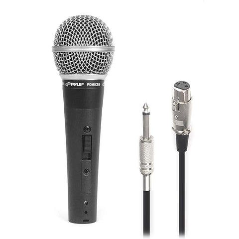 PYLE PDMIC59 Professional Dynamic Microphone, Unidirectional Handheld with 15ft Cable