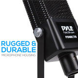 PYLE PDMIC70 Cardioid Condenser Microphone with Backlit LED Light, Mini Tripod Stand & Audio Cable