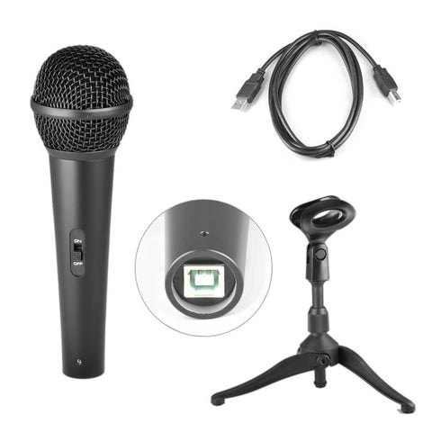 Pyle PDMICUSB6 Dynamic USB Microphone, Studio & Recording Mic - expert island