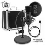 PYLE PDMIKT100 Computer Desktop Microphone - Streaming &  Audio Recording Mic Kit