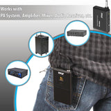 Pyle Pdwm12Uh Wireless Microphone System Beltpack Transmitter W/headset & Lavalier Mics