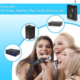 Pyle Pdwm13Uh Wireless Handheld Uhf Microphone System With 1/4 Transmitter